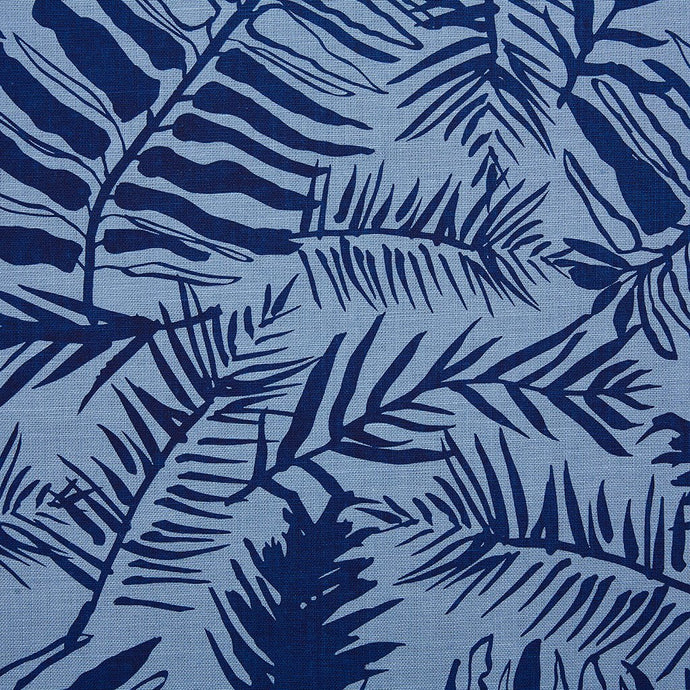 Hutan Navy On Monsoon Linen Fabric