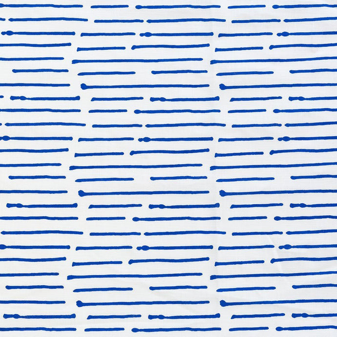 Ink Stripe Cobalt Fabric