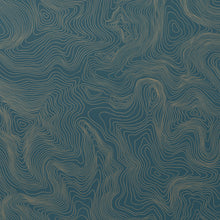 Load image into Gallery viewer, Contour - Gold on Blue Wallcovering