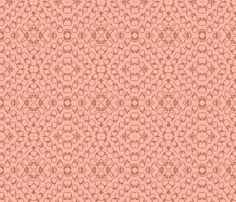 Chics Pink Brown Fabric