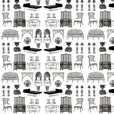 Curio Furniture Black White Wallcovering