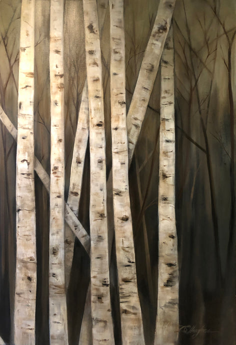 Donna Hughes Birch Trees no.2