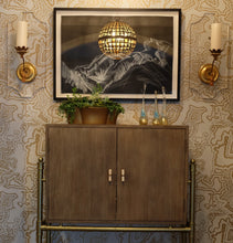 Load image into Gallery viewer, Buscemi Bastille Brass Metallic Wallcovering