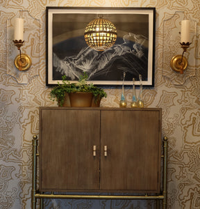 Buscemi Bastille Brass Metallic Wallcovering