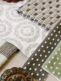 Calico Dot Willow Fabric