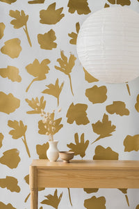 Petals Pressed Gold Type II Wallcovering