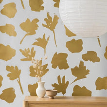 Load image into Gallery viewer, Petals Pressed Gold Type II Wallcovering