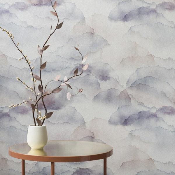 Cloud Mauve Wallpaper