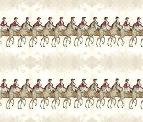 Equestrian Day Stripe Fabric