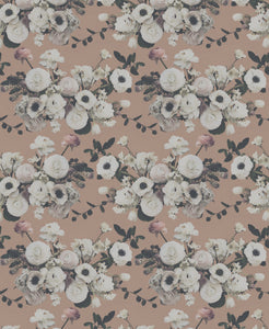 Into The Garden Peach Fabric