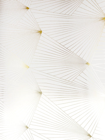 Fan Gold White Wallcovering
