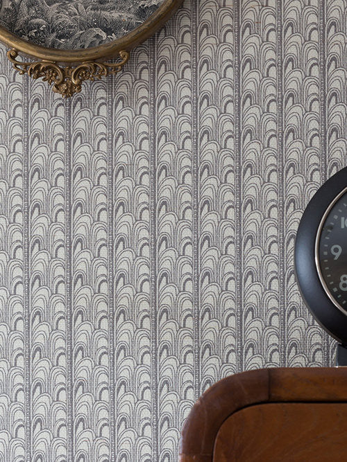 DECO Charcoal Grasscloth  Wallcovering