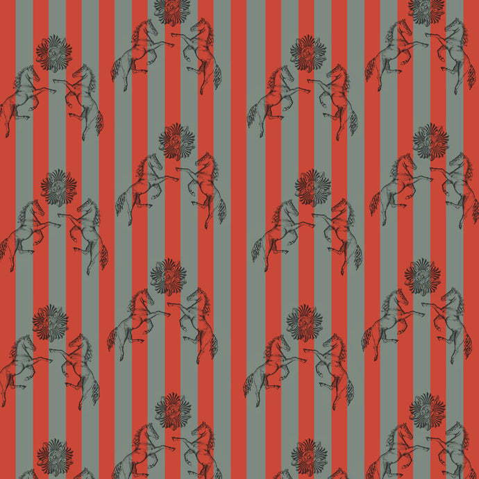 FEDERICO Pumice & Red Wallcovering