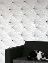 Load image into Gallery viewer, Fan Black White Wallcovering