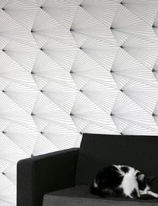 Fan Black White Wallcovering
