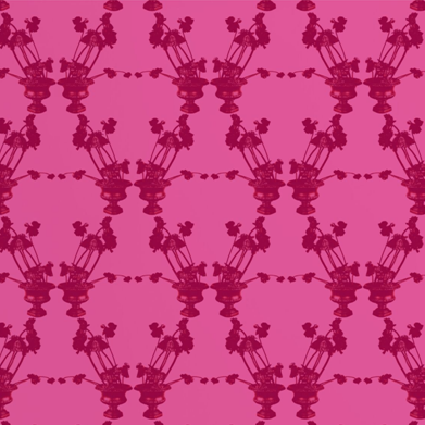 Frida Hot Pink Wallcovering