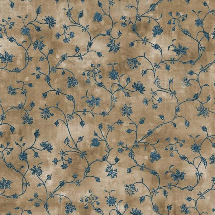 Floral Vine in Tan