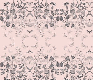 Flutter Pinkish Noir Fabric