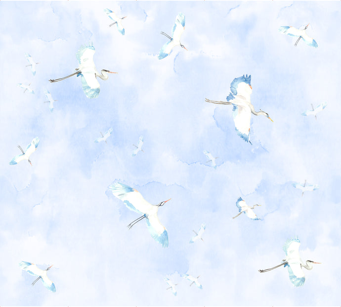 Fly By Blue Wallcovering