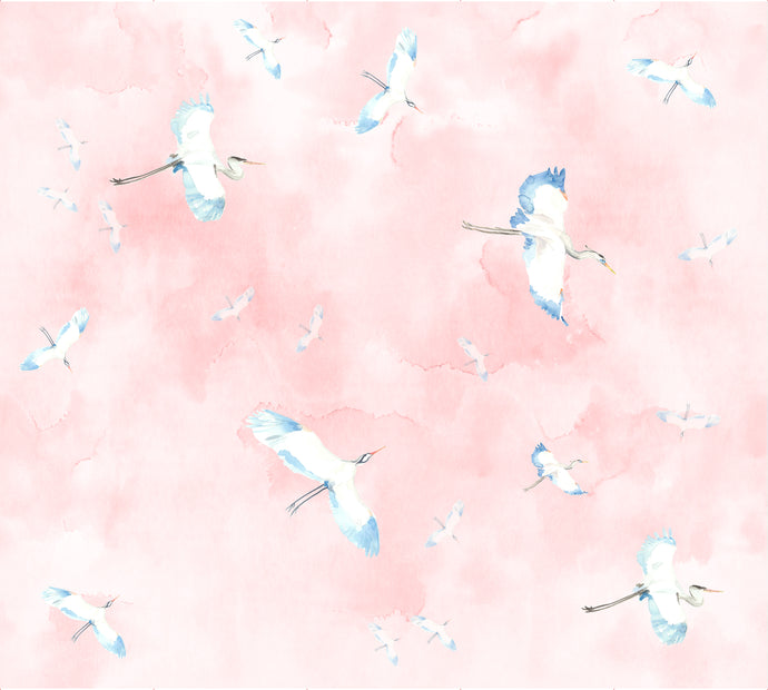 Fly By Pink Wallcovering