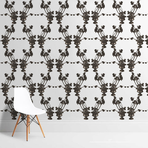 Frida Black and White Wallcovering