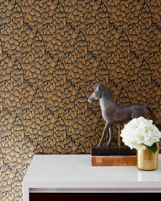 GAAR-Black Wallcovering
