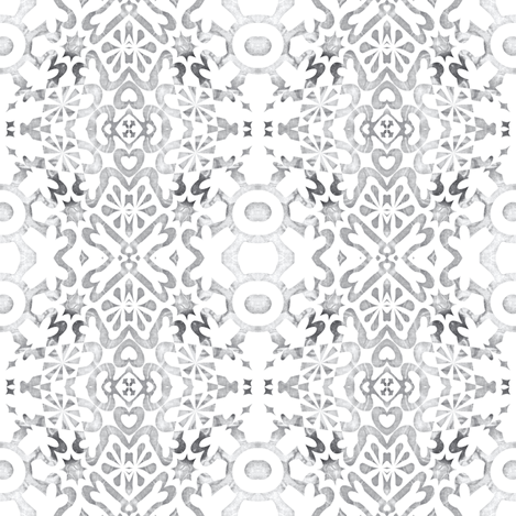 Geomarbled White Wallcovering