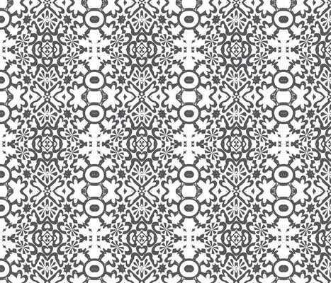 Geo White Noir Fabric