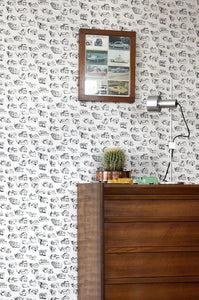 Houses Black Cream Wallcovering