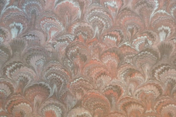 Feathers Peach Fabric