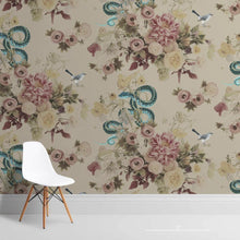 Load image into Gallery viewer, Fay Teal Grasscloth Wallcovering
