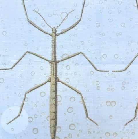 Stickbug Eggshell Wheat Bubbles Fabric