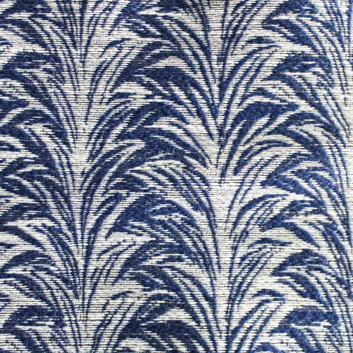 Zebra Royal Blue Indoor Outdoor Fabric