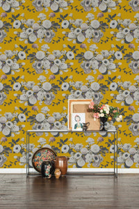 Into the Garden Gold Grasscloth Wallcovering