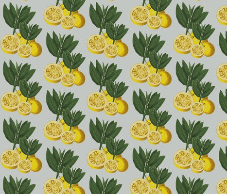 Italian Lemons Diamond Fabric