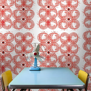 TOMMY Tomato Wallcovering