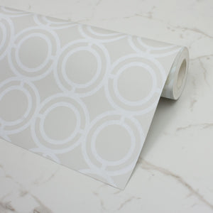 Palladian Loop Brooklyn White Wallcovering