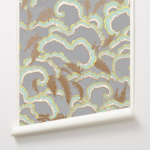 Load image into Gallery viewer, Lush Light Grey Wallcovering