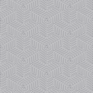 Linked Grey Wallcovering