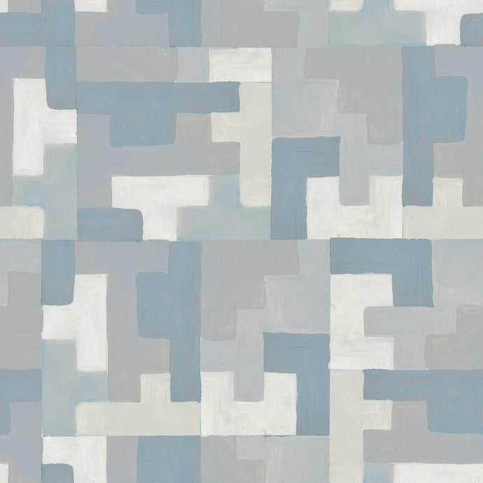 Little Steps Cashmere Blue Wallcovering