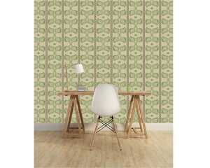 Lola Bailey Brown Wallcovering