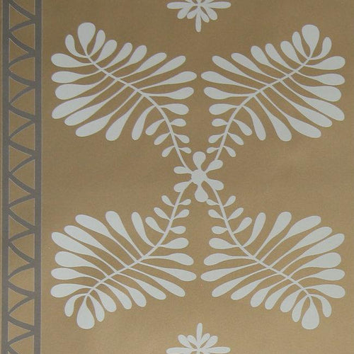 Lola Bastille Brass Wallcovering