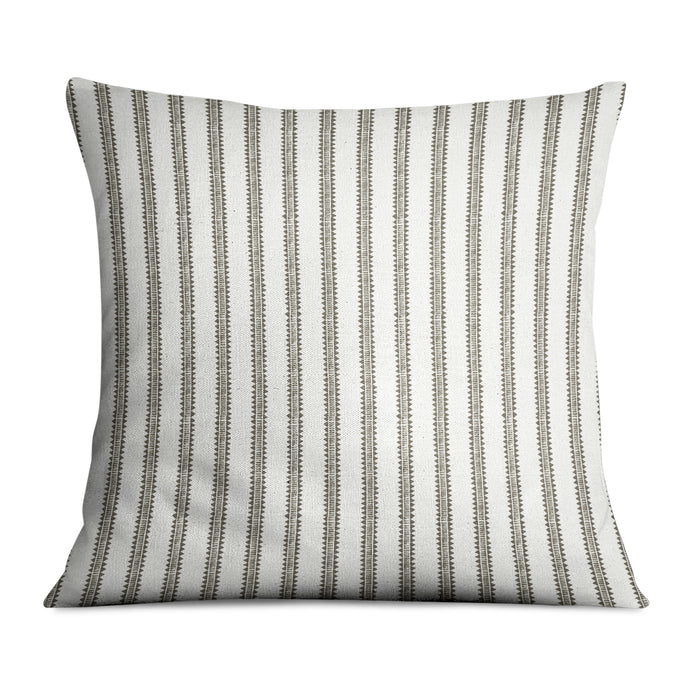 Palazzo Stripe Charcoal Pillow