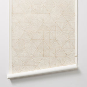 Mica - Gold on Off-White Wallcovering