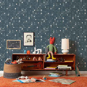 100 Things Blue Wallcovering