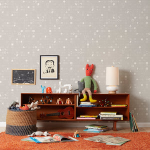 100 Things Grey Wallcovering
