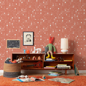100 Things Red Wallcovering