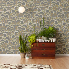 Load image into Gallery viewer, Lush Dark Grey Wallcovering