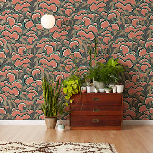 Lush Red Wallcovering
