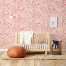 Load image into Gallery viewer, Perennial  Pink on Off White Wallcovering